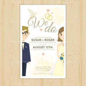 pretty-wedding-invitation-with-newlyweds