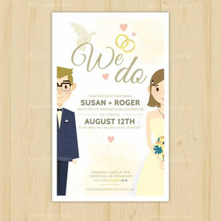 pretty-wedding-invitation-with-newlyweds