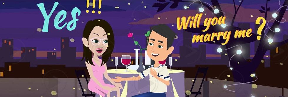 Classy Caricature Cartoon Wedding Invitations | Cartoon Animated Video Wedding