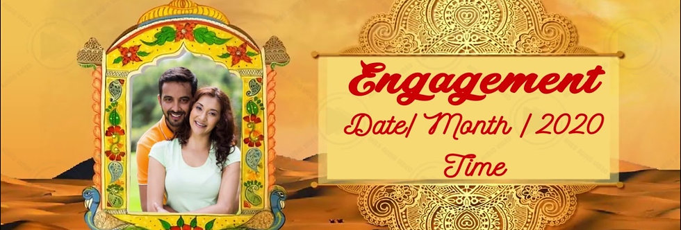 Rajasthani theme based Save the Date invitation| Animated Wedding Invitation
