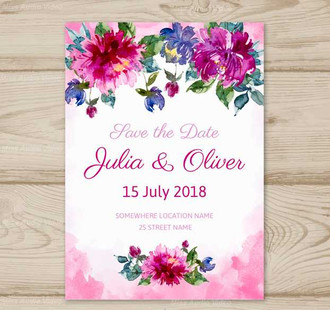 save-the-date-card-with-flowers-in-water