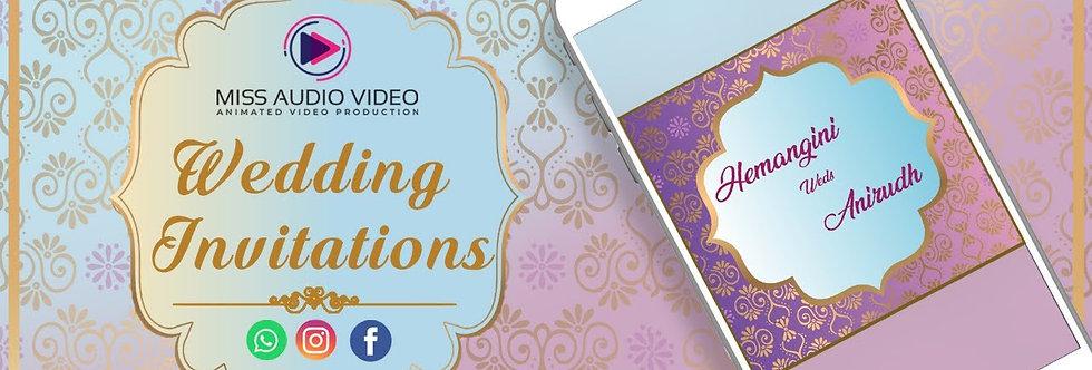 Square shaped - elegant Shaadi Theme based vertical Video Whatsapp Wedding Inv