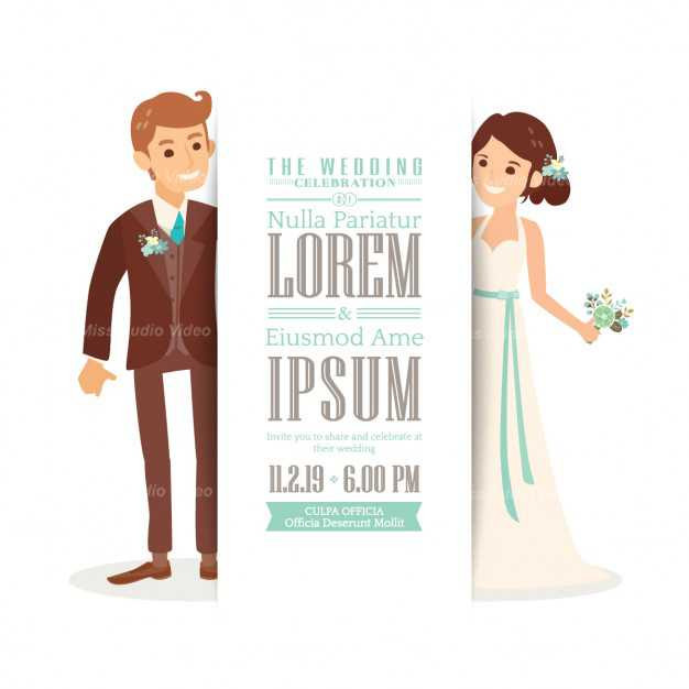 wedding-invitation-with-a-cute-bride-and