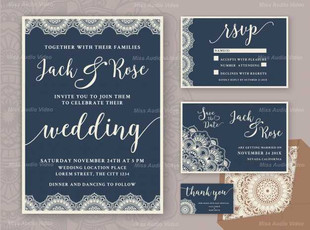 Rustic Wedding Invitation Design Template