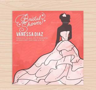 Bridal Shower Invitation In Watercolor