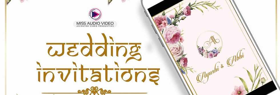 Elegant Ecard theme based vertical Video Whatsapp Wedding Invitation - four Page