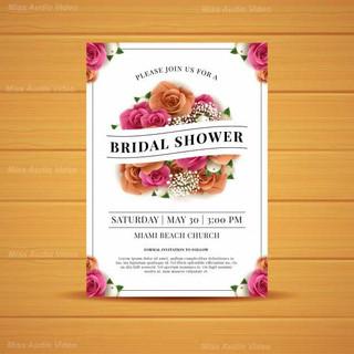realistic-roses-bridal-shower-card-templ