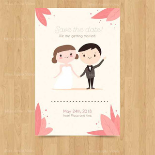 wedding-invitation-card-with-cute-couple