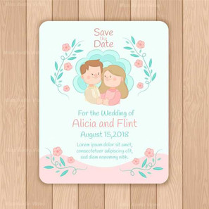 wedding-card-template-with-hand-drawn-ch