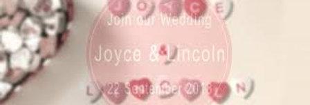 Heart Block Templates Wedding Invitations   Animated Video Wedding Invitations