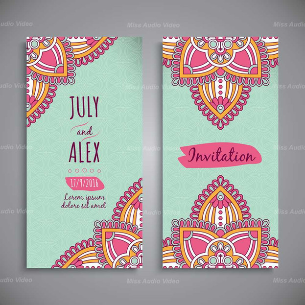 Front & Back Wedding Card
