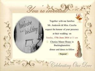 Framed Photo Wedding Invite