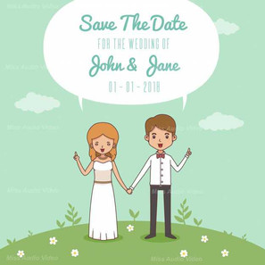smiley-bride-and-groom-with-flat-design_