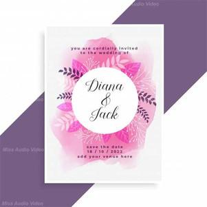 elegant-pink-watercolor-and-leaves-weddi