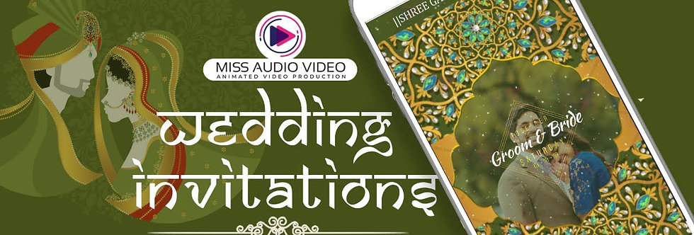 Modern-traditional Shaadi Theme based vertical Video Wedding Invitation - four