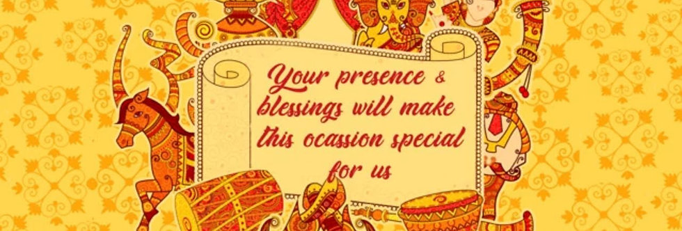 Rajwari Rajasthani theme based Wedding Invitation | Animated Wedding Invitations