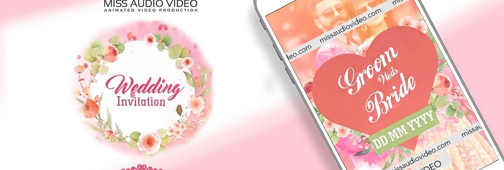 Modern- Digital theme based vertical Video Whatsapp Wedding Invitation - four