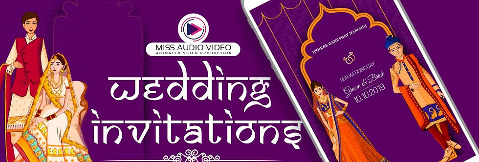 Indian-styled theme based vertical Video Wedding Invitation - four Page Video