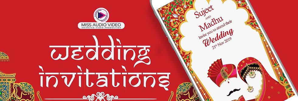 Rajasthani-Indian theme based vertical Video Whatsapp Wedding Invitation - four