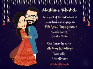 Caricature Invitation Card