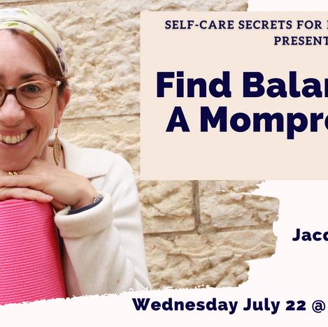 Self-care Secrets for Mom-preneurs
