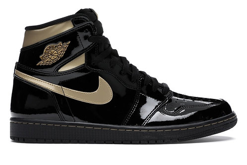 Nike Air Jordan 1 High Metallic Black Patent
