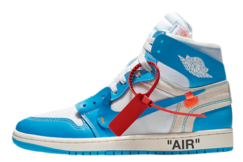 Nike Jordan 1 Retro High OG x Off White UNC Powder