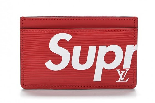 Louis Vuitton x Supreme Red Epi Card Holder
