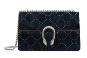 Dionysus GG velvet super mini bag