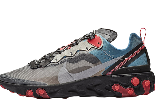 Nike React Element 87 Grey Blue Red