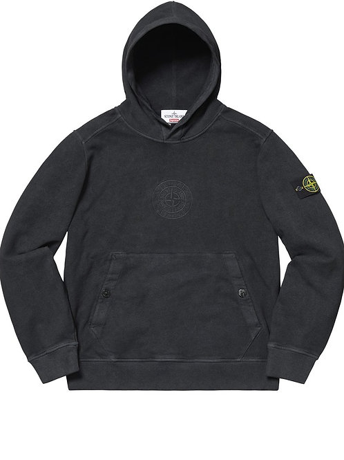 Stone Island x Supreme Black hoodie