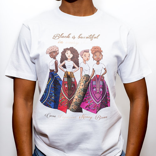 """Black is Beautiful"" T Shirt"