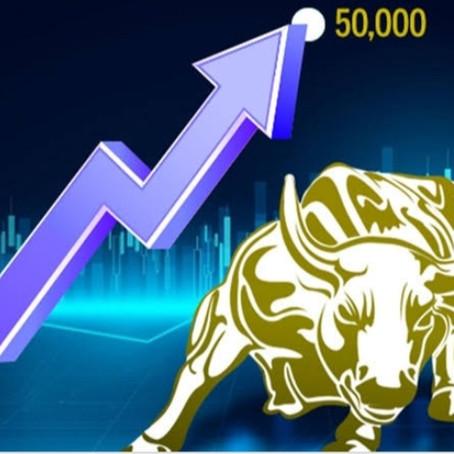 SENSEX REACHED 50,000 MARK