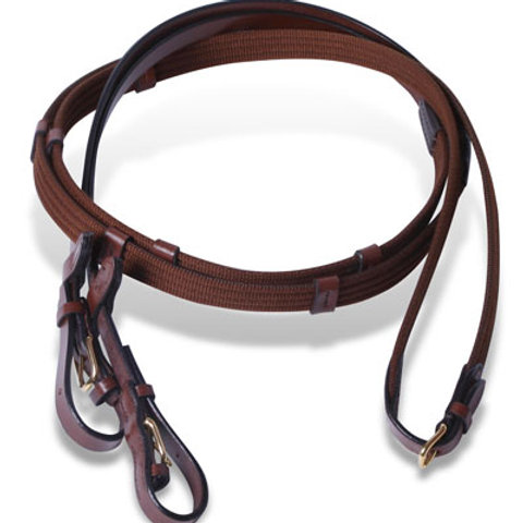 Extended English Reins with Clips