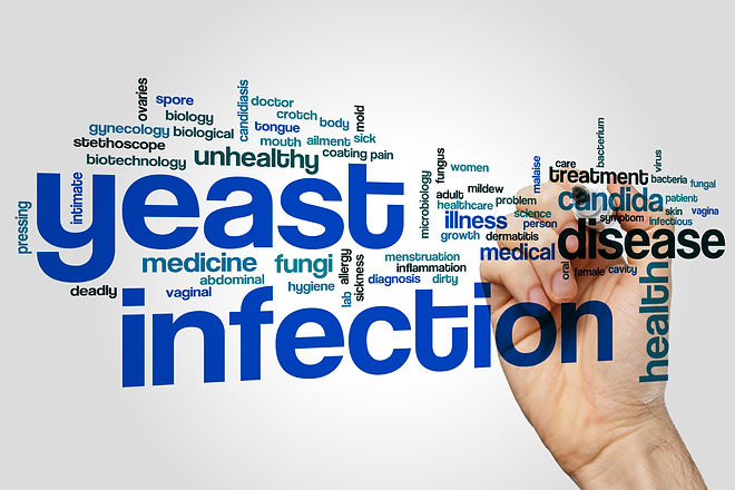 Yeast infection word cloud concept on gr