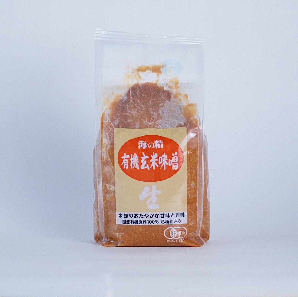 国産有機・玄米味噌 1450円(税別)