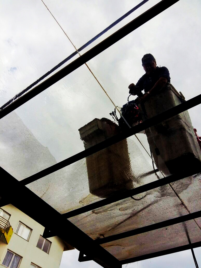 Lavagem cobertura de vidro