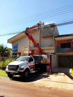 Limpeza fachada residencial
