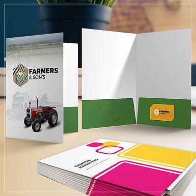 Presentation Folder Custom Design