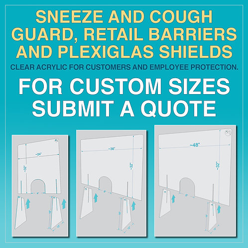 ACRYLIC COUNTER GUARDS
