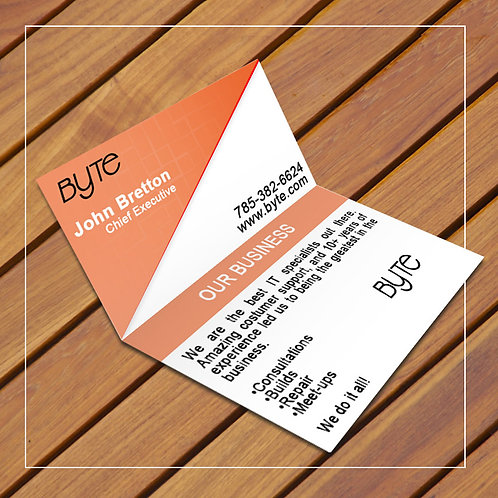Fold Over Business Cards 3.5x4 Scored