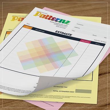 Custom Design Invoice Form