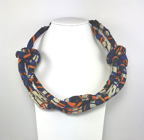 African Prints - Fabric Wrapped Twist Necklace