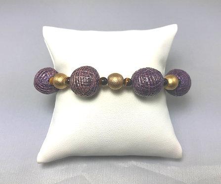 Purple Basket Weave Bracelet