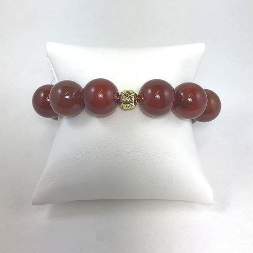 Carnelian Ball Bracelet