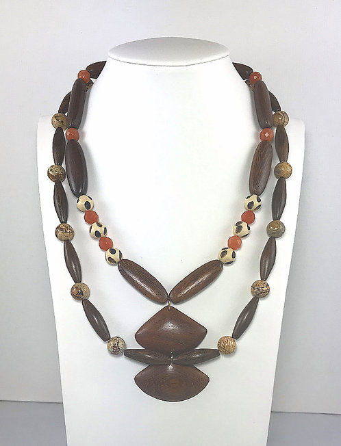 Double Fan Necklace