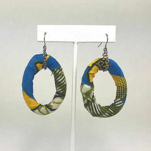 African Prints - Fabric Wrapped Earrings