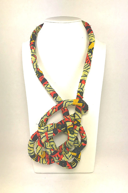 African Prints - Fabric Wrapped Knot Necklace