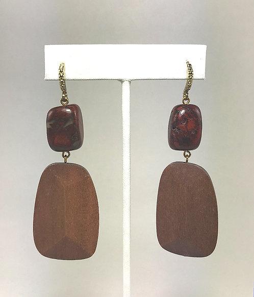 Red Jasper Geo Earrings