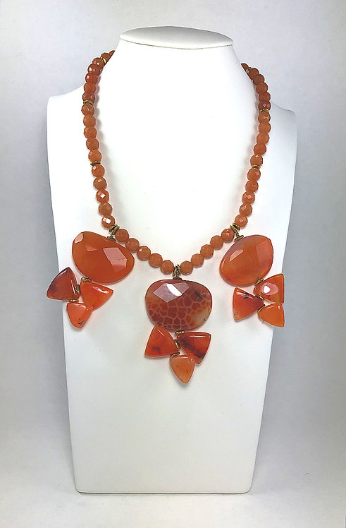 Abstract Carnelian Necklace